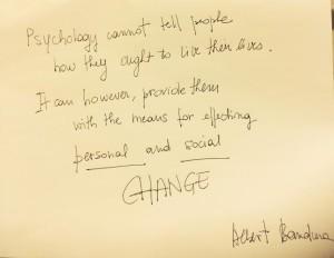 Bandura's quote
